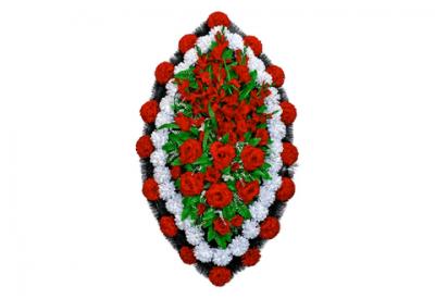 Ritualnii-venok-iz-iskusstvennih-cvetov-140-sm-standart-№1