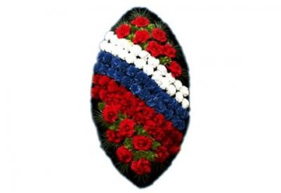 Ritualnii-venok-iz-iskusstvennih-cvetov-120-sm-standart-№1