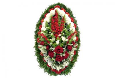 Ritualnii-venok-iz-iskusstvennih-cvetov-140-sm-standart-№5
