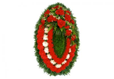 Ritualnii-venok-iz-iskusstvennih-cvetov-140-sm-Elit-№7