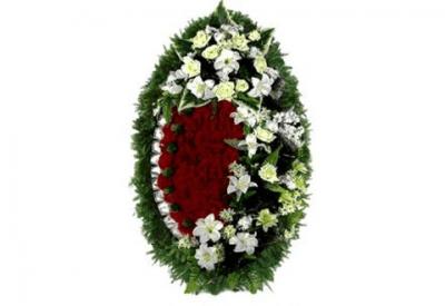 Ritualnii-venok-iz-iskusstvennih-cvetov-120-sm-Elit-№7