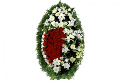 Ritualnii-venok-iz-iskusstvennih-cvetov-140-sm-Elit-№25