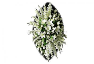 Ritualnii-venok-iz-iskusstvennih-cvetov-140-sm-Elit-№5
