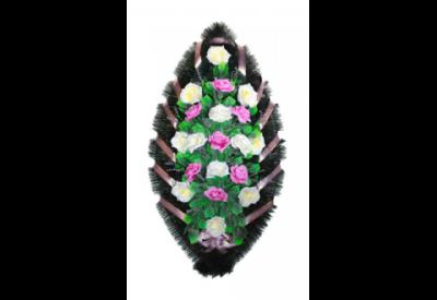 Ritualnii-venok-iz-iskusstvennih-cvetov-120-sm-standart-№7