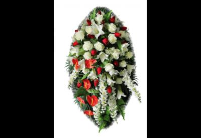 Ritualnii-venok-iz-iskusstvennih-cvetov-120-sm-Elit-№12