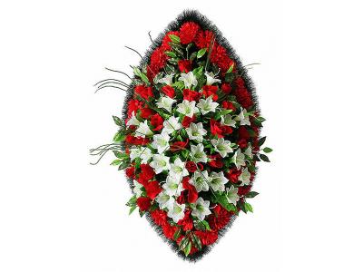 Ritualnii-venok-iz-iskusstvennih-cvetov-120-sm-Elit-№22
