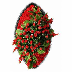 Ritualnii-venok-iz-iskusstvennih-cvetov-120-sm-Elit-№23