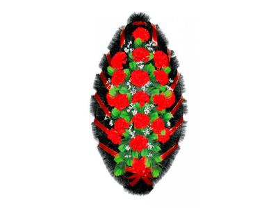 Ritualnii-venok-iz-iskusstvennih-cvetov-120-sm-standart-№13