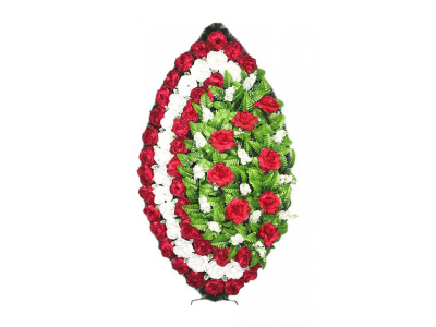 Ritualnii-venok-iz-iskusstvennih-cvetov-120-sm-standart-№17