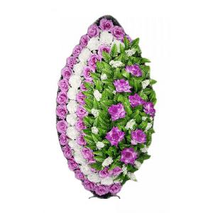 Ritualnii-venok-iz-iskusstvennih-cvetov-120-sm-standart-№18