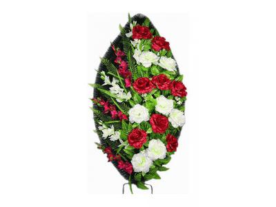 Ritualnii-venok-iz-iskusstvennih-cvetov-120-sm-standart-№19