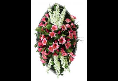 Ritualnii-venok-iz-iskusstvennih-cvetov-140-sm-Elit-№11