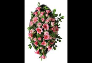 Ritualnii-venok-iz-iskusstvennih-cvetov-140-sm-Elit-№12