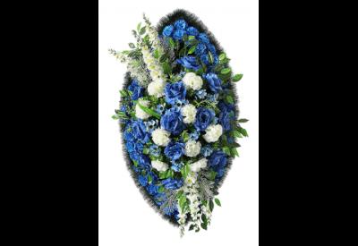 Ritualnii-venok-iz-iskusstvennih-cvetov-140-sm-Elit-№14