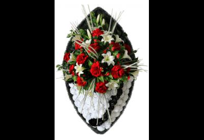 Ritualnii-venok-iz-iskusstvennih-cvetov-140-sm-Elit-№9