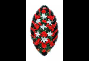Ritualnii-venok-iz-iskusstvennih-cvetov-140-sm-№3