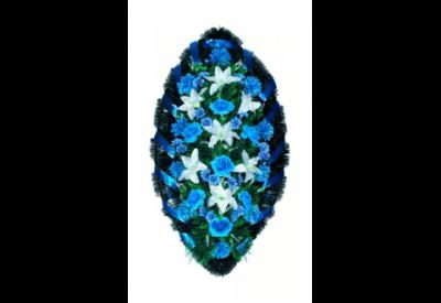 Ritualnii-venok-iz-iskusstvennih-cvetov-140-sm-№5