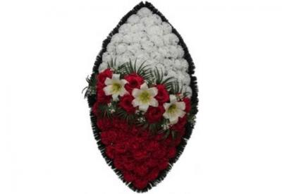 Ritualnii-venok-iz-iskusstvennih-cvetov-90-sm-standart-№1