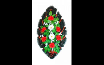 Ritualnii-venok-iz-iskusstvennih-cvetov-90-sm-№13