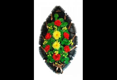 Ritualnii-venok-iz-iskusstvennih-cvetov-90-sm-№14
