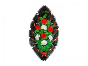 Ritualnii-venok-iz-iskusstvennih-cvetov-90-sm-standart-№19