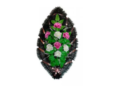 Ritualnii-venok-iz-iskusstvennih-cvetov-90-sm-standart-№20