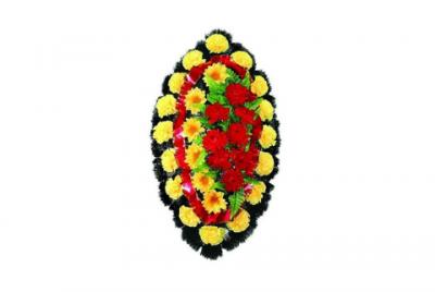 Ritualnii-venok-iz-iskusstvennih-cvetov-90-sm-standart-№8