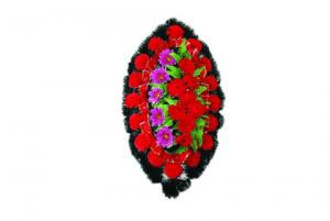 Ritualnii-venok-iz-iskusstvennih-cvetov-90-sm-standart-№9