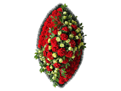 Ritualnii-venok-iz-iskusstvennih-cvetov-140-sm-Elit-№16