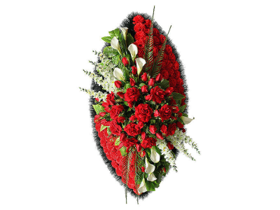 Ritualnii-venok-iz-iskusstvennih-cvetov-140-sm-Elit-№17