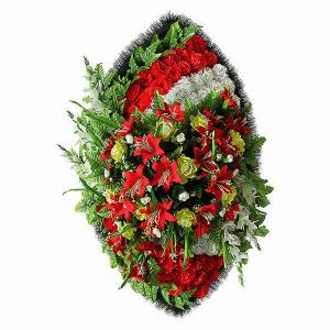 Ritualnii-venok-iz-iskusstvennih-cvetov-140-sm-Elit-№18