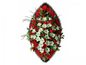 Ritualnii-venok-iz-iskusstvennih-cvetov-140-sm-Elit-№19