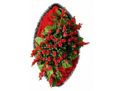 Ritualnii-venok-iz-iskusstvennih-cvetov-140-sm-Elit-№20