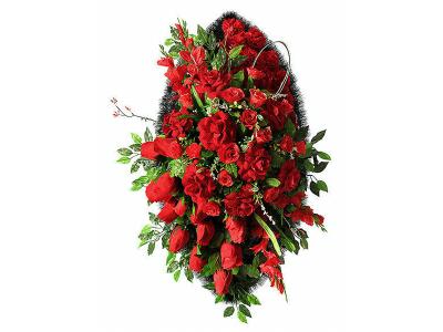 Ritualnii-venok-iz-iskusstvennih-cvetov-140-sm-Elit-№22