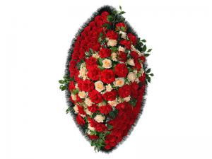Ritualnii-venok-iz-iskusstvennih-cvetov-140-sm-Elit-№23