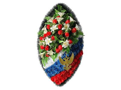Ritualnii-venok-iz-iskusstvennih-cvetov-140-sm-Elit-№24
