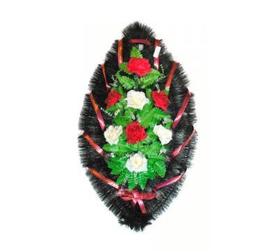 Ritualnii-venok-iz-iskusstvennih-cvetov-70-sm-№1