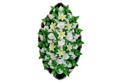 Ritualnii-venok-iz-iskusstvennih-cvetov-140-sm-standart-№2