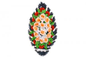 Ritualnii-venok-iz-iskusstvennih-cvetov-90-sm-standart-№2