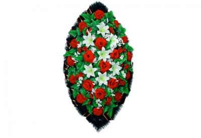 Ritualnii-venok-iz-iskusstvennih-cvetov-140-sm-standart-№3