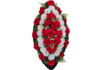 Ritualnii-venok-iz-iskusstvennih-cvetov-90-sm-standart-№3