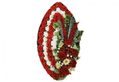 Ritualnii-venok-iz-iskusstvennih-cvetov-140-sm-Elit-№4