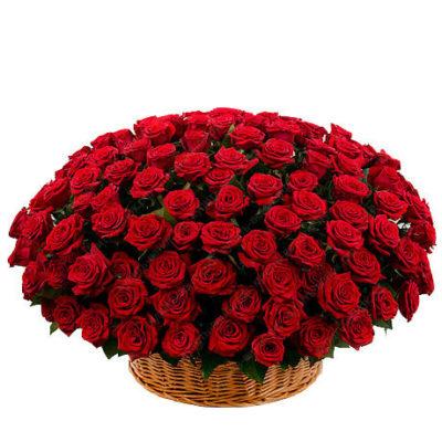 Траурная корзина из живых цветов №8