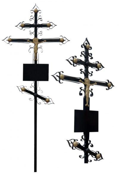 Металлический крест 002