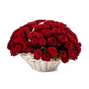 Траурная корзина из живых цветов №6