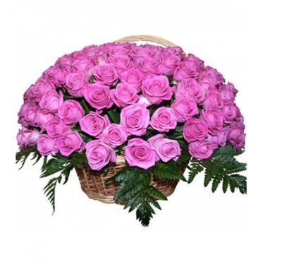 Траурная корзина из живых цветов №12
